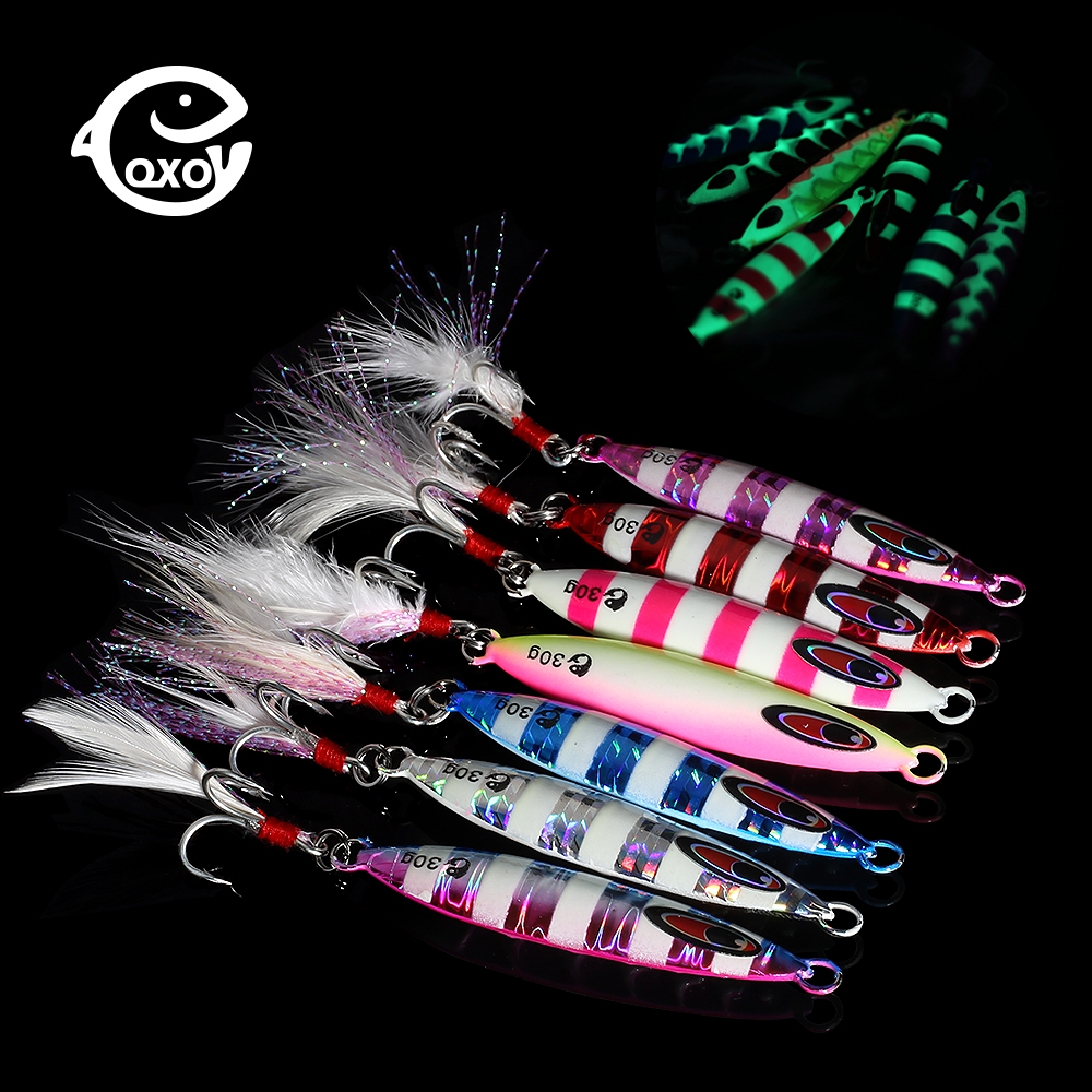 QXO VIB Fishing 20g 30g 40g Light Lures Metal Jig Spoon Winter Fishing Good For Fishing Octopus Jigging Lure Hard Ice Bait Shad(China)