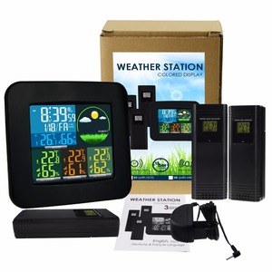 Image 2 - Thermometer Hygrometer Digital Weather Station 6 Weather Forecast RCC DCF MSF w/ 3 Wireless Sensor LED LCD Display