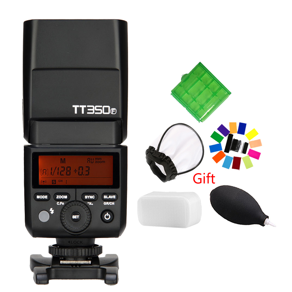 Godox Mini Speedlite TT350F for Fujifilm Camera Flash TTL HSS GN36 High Speed 1/8000S 2.4G for Fuji godox flash tt350f fuji ttl hss 2 4ghz 1 8000 s gn36 mini speedlite flash for fujifilm dslr camera free shipping