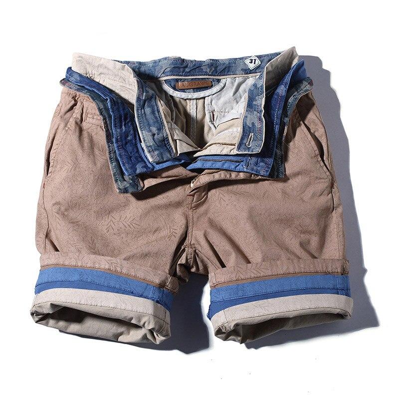 Plus Size 40 Cotton Casual Shorts Men 2019 New Men's Summer Leisure Shorts Men Multi-pockets Cargo Shorts Straight Knee Length