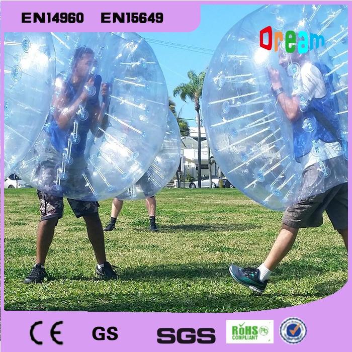 Kostenloser Versand 1,5 mt Bubble Soccer Body Zorb Stoßkugel Menschlichen Hamster Ball Bubble Fußball Bubble Soccer Ball