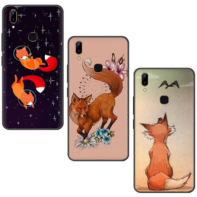 Fox Animal Silicone phone case for VIVO V15 V11 Pro V9 V7 V5 Y17 Y55s Y69 Y71 Y81s Y91C Y93 Y66 X9s