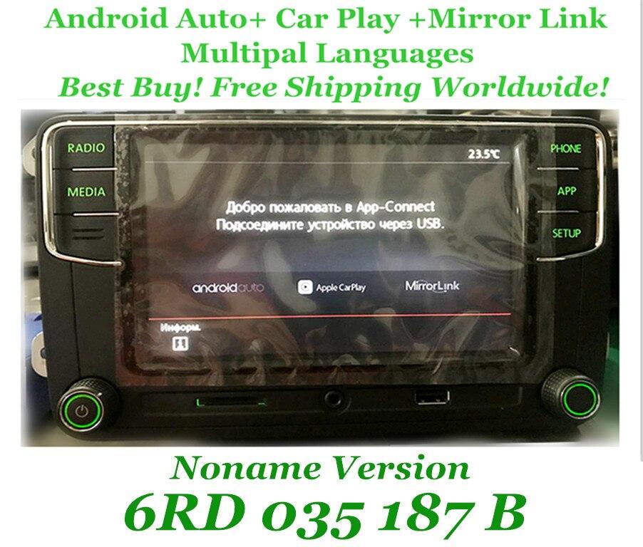 US $206 99 |Android Auto CarPlay MirrorLink Noname RCD330 Plus R340G 6 5  MIB Radio With Green Backlight For Skoda Octavia Fabia Superb Yeti-in  Head-up