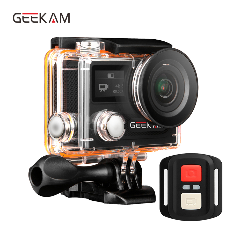 GEEKAM Ultra HD wasserdichte 4K Video Action Kamera 170 Grad 2.0 Dual - Kamera und Foto - Foto 1