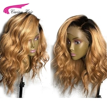 Carina Brazilian Loose Deep Lace Front Human Hair Wigs with Baby Hair Pre Plucked Honey Blond