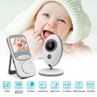 Babykam мониторы de audio детская сигнализация VB605 Русский Меню 2,4 дюймов TFT ЖК дисплей ИК переговорное устройство с режимом ночной съемки температ