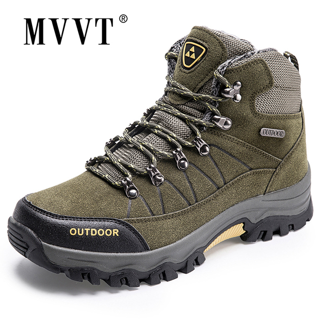 Super Warm Men Winter Boots Suede Leather Men Boots Fur Plush Snow Boots waterproof Winter Shoes For Men Outdoor Boots Shoes 1