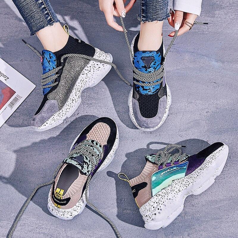 ADBOOV 2019 Neue Frühling Turnschuhe Frauen Echtes Leder Casual Schuhe Frau Patchwork Kreuz Gebunden Damen Footware Korb Femme-in Vulkanisierte Damenschuhe aus Schuhe bei  Gruppe 2