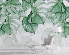 beibehang papel de parede Hand painted turtle back tropical plant background wallpaper mural hudas beauty tapiz