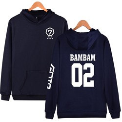 Fashion Hoodies Women Pullover Korean Got7 K-pop Fans Supportive Sweatshirt Women Moletom Got7 Sudaderas Mujer Never Ever 2