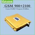 Amplificador de celular 900 Mhz 2100 Mhz EDGE/HSPA Dual band GSM WCDMA UMTS Repetidor De Sinal de Reforço 3G com LCD ALC