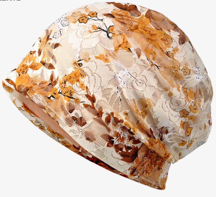 lace turban skullies fashion cap chemo lace cancer hat Cap Chemo slip on bonnet 10pc/lot free ship skullies