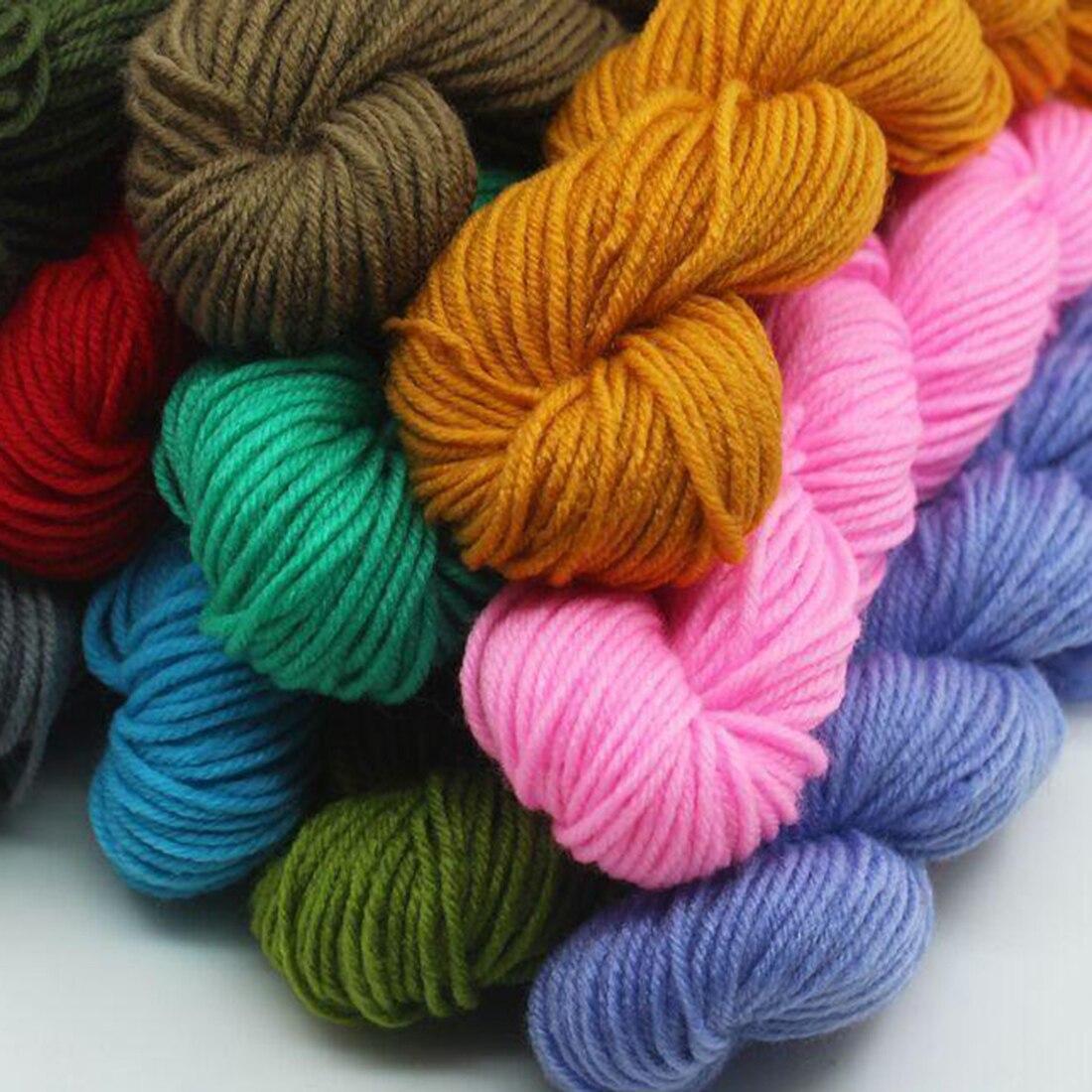Venta caliente poliéster suave para bebé tejer lana hecha a mano de ...