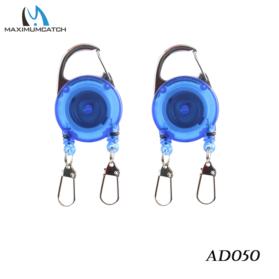 Maximumcatch 2pcs/lot High Quality Fly Fishing Zinger Retractor Blue&Black Color Hook Up Zinger Fly Fishing Accessory Kit