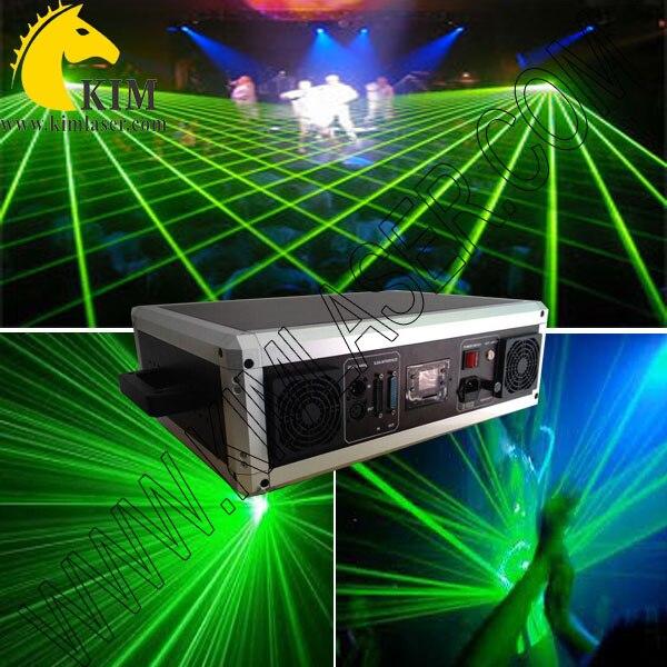 Laser vert 2 W 40 Kpps avec faisceau de carte SD et lumière d'animation avec étui de combat pour scène/projecteur de logo extérieur/laser de carte SD