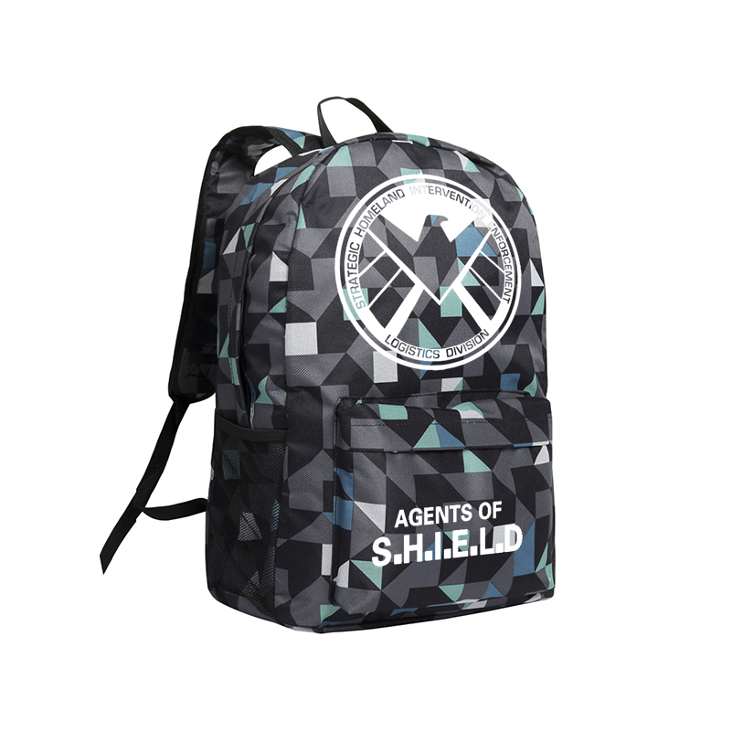 Zshop Backpack Agent of Shield Marvel's The Avengers Backpacks for Teenage Boys Black Batman Superman School Bags Dead Pool my treasury of stories for boys