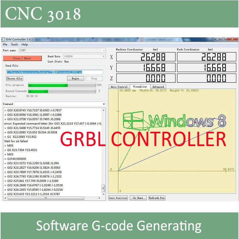 CNC 3018 graveris su ER11 griebtuvu su 500mw 2500mw 5500ww galingumo - Medienos apdirbimo įranga - Nuotrauka 5