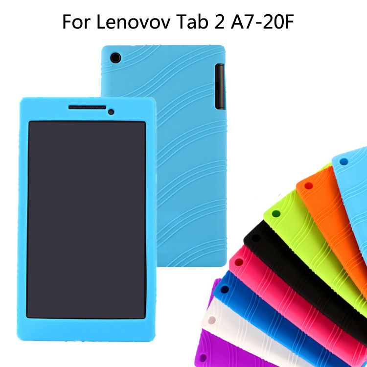 Free shipping For Lenovo tab2 A7-20 Soft Cover Protective silicone Case For Lenovo Tab 2 A7-20F / A7 20F Case floral printed leather case smart cover for lenovo tab 2 tab2 a7 30hc a7 30 a7 30tc a7 30tc tablet flip cover case