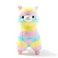 35cm Rainbow Alpaca Plush Toy Vicugna Pacos Japanese Soft Plush Alpacasso Sheep Llama Stuffed Toy