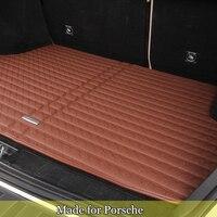 Stuoia del tronco PER Porsche Panamera SUV 911 Cayman Macan boot impermeabile mat TPR cargo floor vassoio XPE posteriore tronco liner tappeto 7928