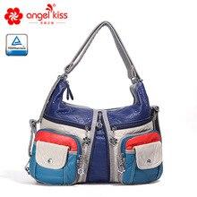 Angel Kiss, женские сумки, Хобо, сумки через плечо, сумка-тоут из искусственной кожи, модные вместительные сумки, подходящие по цвету, женские сумки