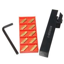 цена на 1pc MGEHR2020-3 Right Hand Lathe Turning Tool holder Bar Set + 1pc Wrench + 10pcs MGMN300-M Inserts With Box