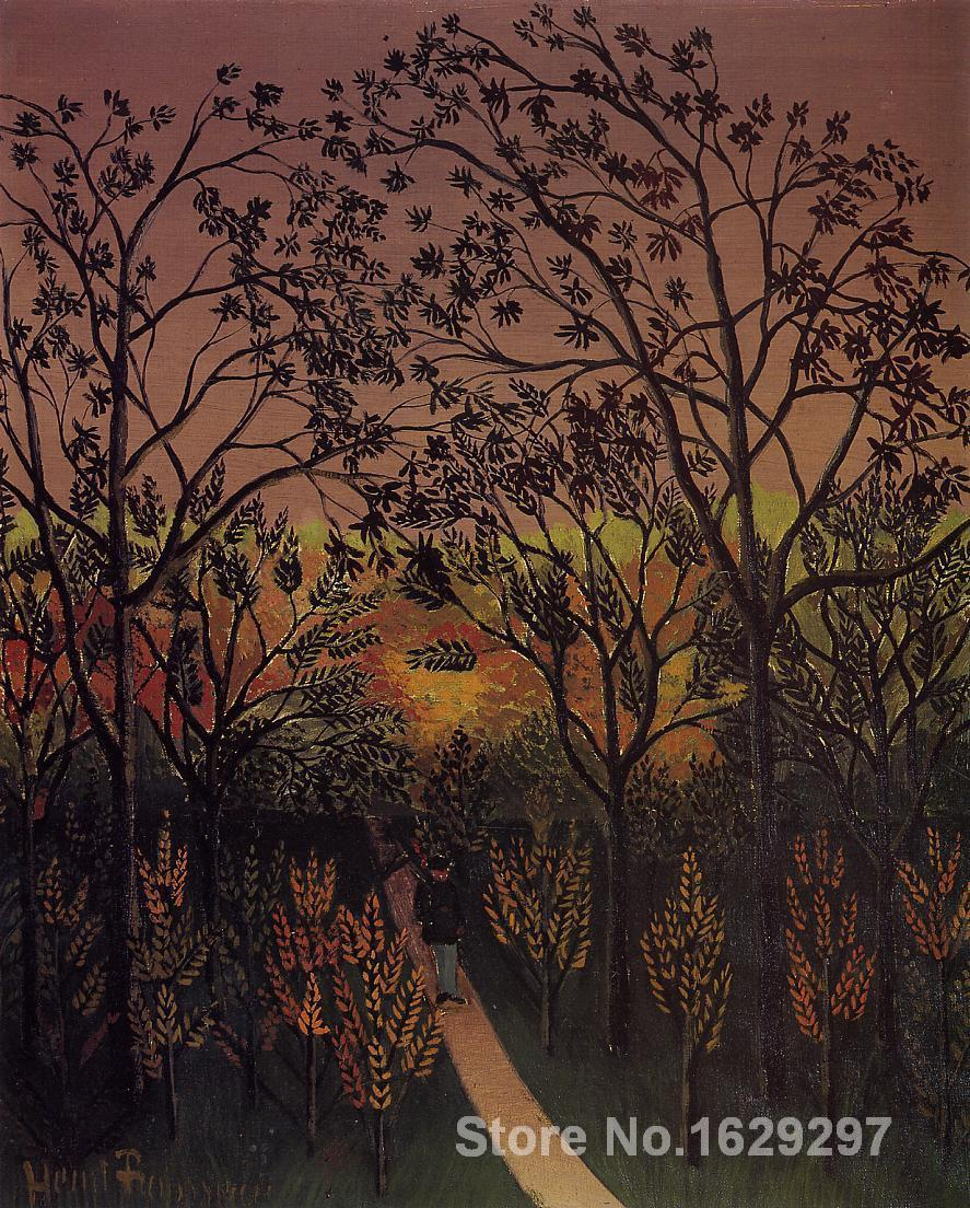 Modern landscape painting A Corner of the Plateau of Bellevue Henri Rousseau High quality Hand paintedModern landscape painting A Corner of the Plateau of Bellevue Henri Rousseau High quality Hand painted