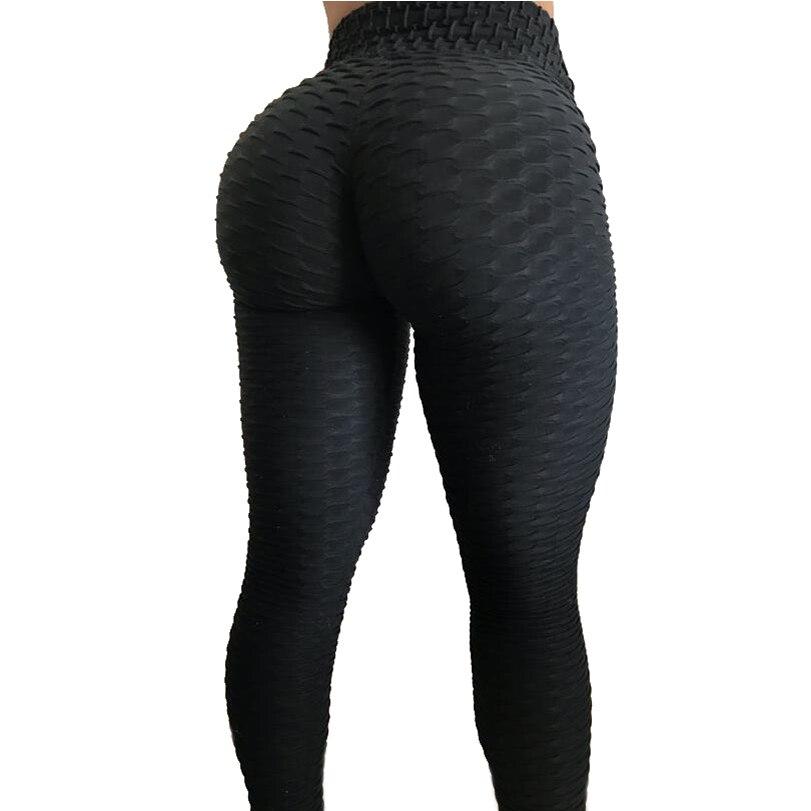 New Boosty Butt Fitness Female Elastic Slim Pants Leggins Jacquard Weave Leggings Sporting Women Textured Workout Leggings