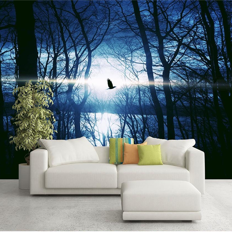 Textured Tree Forest Woods Wallpaper Non-woven fabric Wall Paper Mural For TV Background Wall Home Decor Wall Paper Black White beibehang lovely abc print kid bedding room wallpapers ecofriendly fantasy non woven wall paper children mural wallpaper roll