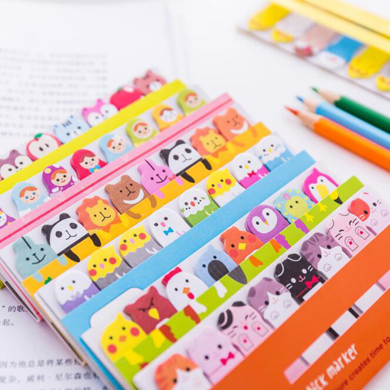 Little Animals Station Memo Pad Notes Post Its Learning Office Sticky Notes Diary Scrapbooking Stickers Memo Sheets Notes image