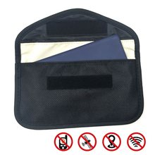 Signal Blocking Bag Car Fob Signal Blocker Faraday Bag Signal Blocking Bag Shielding Pouch Wallet Case for Car Key(China)