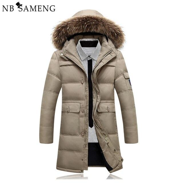 Caliente del invierno Con Capucha Hombres Chaquetas Casual Duck Down Abrigos y chaquetas Espesar Outwear Casual Solid Parkas Plus Tamaño 4XL NSWT206