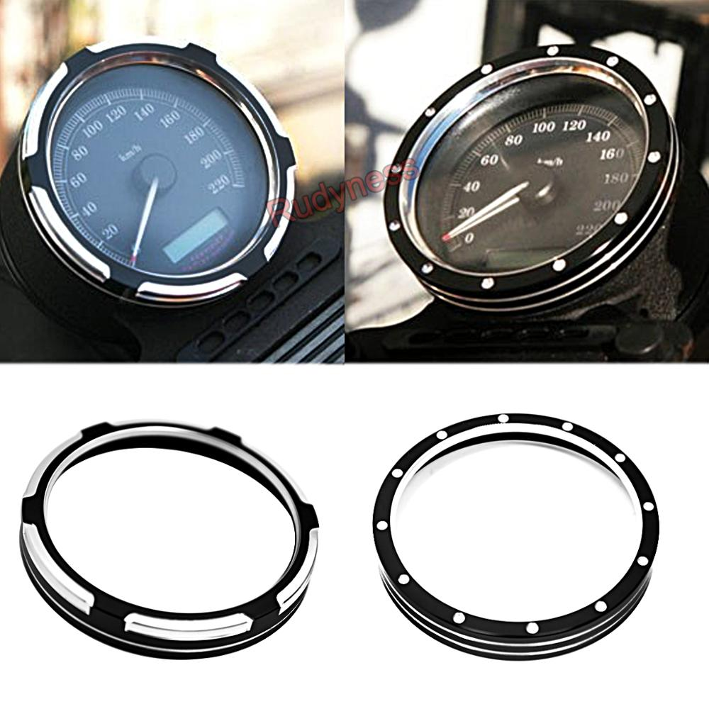 Black Billet Speedometer Trim Bezel Fit For Harley Sporster 883 1200 XL Dyna Street Bob Low Rider