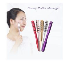 Facial Massage Roller Double Heads Germanium Stones Face Lift Hands Body Skin Re