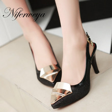 New big size 31 48 fashion summer style women shoes Solid senior PU leather Pointed Toe