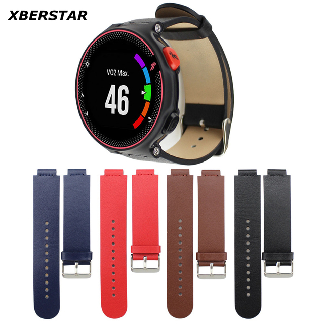 Genuine Leather Wrist Strap Watchband for Garmin Forerunner 235/ 630 /230 GPS Watch