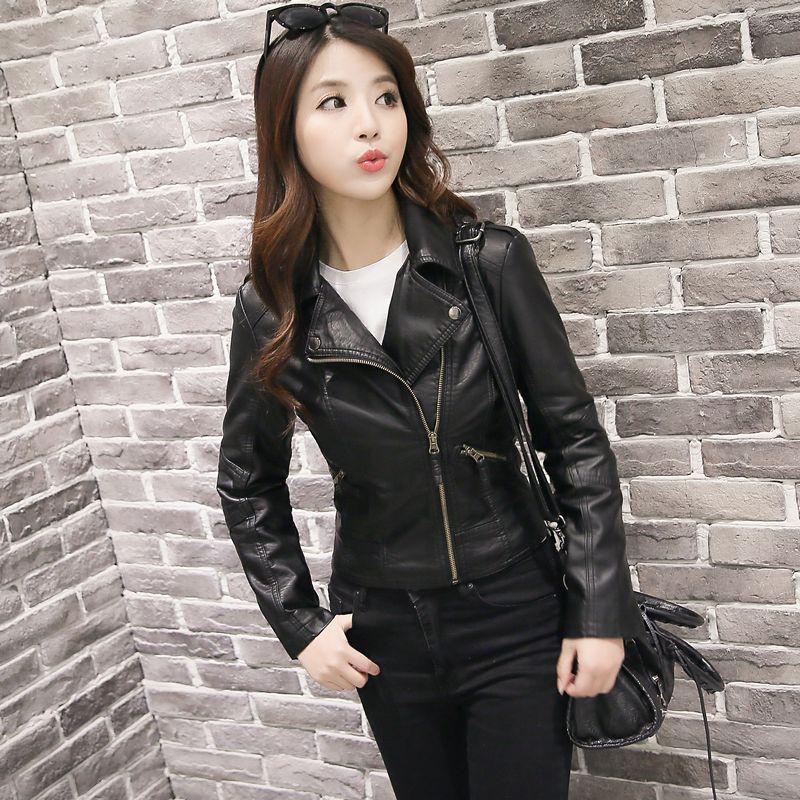 Solide poches bouton de fermeture éclair femme veste automne et hiver col rabattu gaine mince pleine femme confortable veste