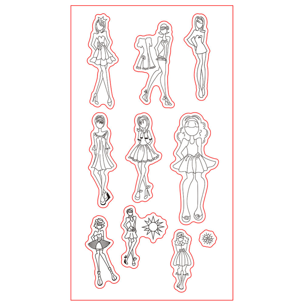 CCINEE 1PCS Transparent Clearn Stamp Character Style DIY Silicone Seals Scrapbooking/Card Making/Photo Album Decoration Supplies loving heart and ballon transparent clear stamp diy silicone seals scrapbooking card making photo album craft cl 285