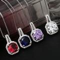 Vintage Copper Silver Short Paragraph Necklace Female Fashion Crystal Korea Sparkling Zircon Stonework Necklaces & Pendants