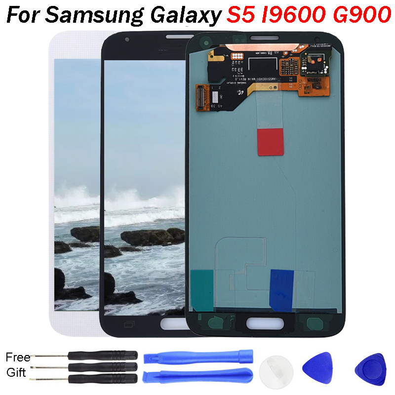 S5 LCD AMOLED For Samsung Galaxy S5 I9600 G900 G900A G900F LCD Display Touch Screen Assembly for Samsung G900FD G9008W G900FQS5 LCD AMOLED For Samsung Galaxy S5 I9600 G900 G900A G900F LCD Display Touch Screen Assembly for Samsung G900FD G9008W G900FQ