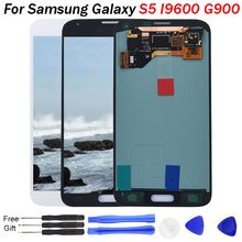 цена на S5 LCD AMOLED For Samsung Galaxy S5 I9600 G900 G900A G900F LCD Display Touch Screen Assembly for Samsung G900FD G9008W G900FQ
