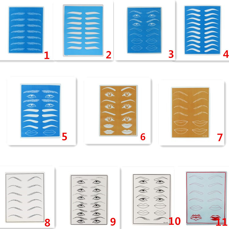 Professional High Quality Embroidered Eyebrow Tattoo Silicone Practice Skin For Permanent Makeup Tattoo Accessories in Tattoo accesories from Beauty Health