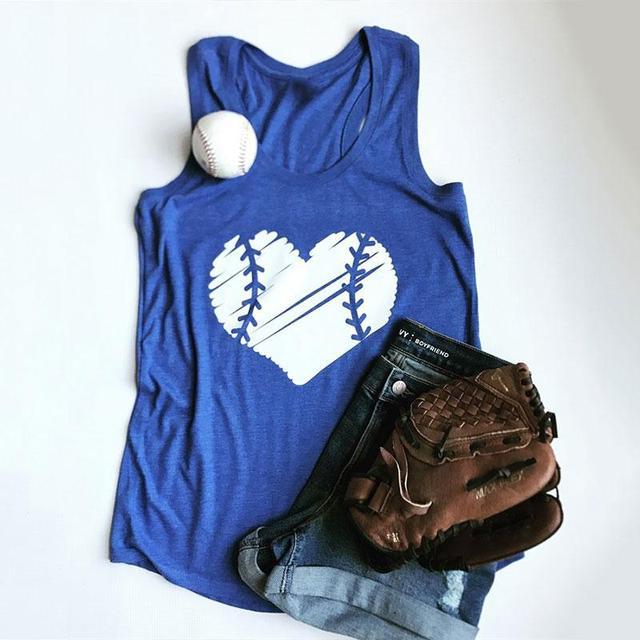 545be48379ed Women Baseball Tank Sleeveless O Neck Blue Plus Size Tumblr Harajuku Tops  S-3XL Sporting Bts Female Workout Vest Summer Camis