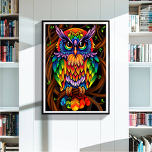 Special Shape Diamond Painting 5D Lovely Owl Embroidery Animal Rhinestones Pictures Mosaic Partial 30x40cm