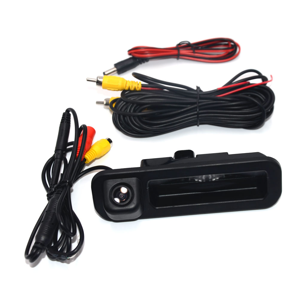 BNCG Special Car Rear View Camera For Ford Focus 2 3 2012 2013 Trunk Handle Trajectory Camera Color Night Vision Waterproof