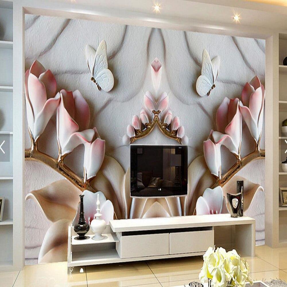 9 06 51 De Reduction 3d En Relief Orchidee Fleur Fonds D Ecran Pour Salon Tv Dosseret Papier Peint Decor A La Maison Photo Peintures Murales