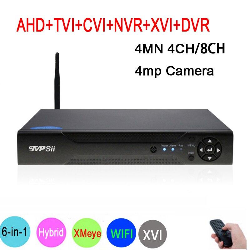 4MP, 1080 P, 960 P, 720 P Камеры Скрытого видеонаблюдения Hi3520D xmeye 4MN 4CH/8CH 6 в 1 Гибридный WI-FI XVI CVI TVi NVR AHD CCTV DVR Бесплатная доставка