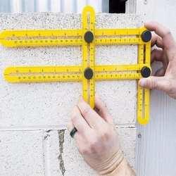 Портативный Складной Измерительный Инструмент транспортир четырехсторонний угол линейка измерение Деревообработка измерительные