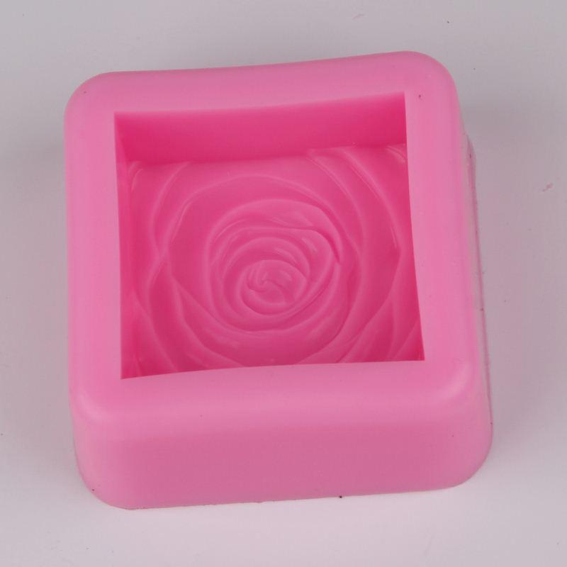 bf rose flower resina de silicona moldes de jabn vela decorativa artesanas de arcilla molde