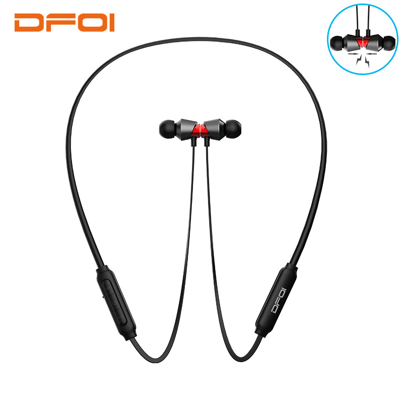 3fe950c2c15 DFOI Wireless Headphones Sports Earphones Neckband Bluetooth Headphone  Wireless Earphone Magnetic Headset with mic For Phone Pad